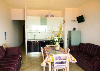 Residence Perla Bianca Alloggi Bilocale Mare soggiorno