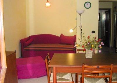 Residence Perla Bianca Alloggi Bilocale Lux salotto